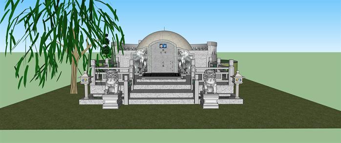 某坟墓景观设计SU模型