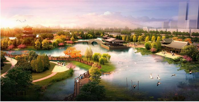 某滨水公园景观设计方案图[原创]
