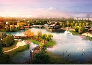 某滨水公园景观设计方案图