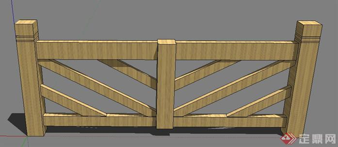 > 一个栅栏的景观设计su模型,较为普遍的庭院栏杆,欧式风格设计,有图片