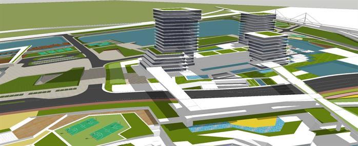 某滨水商业综合体建筑su设计模型