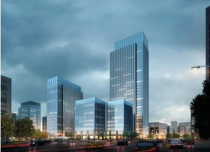 北京市某现代空间大厦办公高层建筑详细办公施设计风格室内设计任务书图片