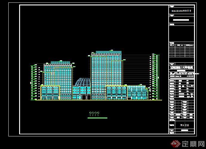 某现代图纸综合体建筑设计手工(附CAD报建图方案商业眼镜盒图片