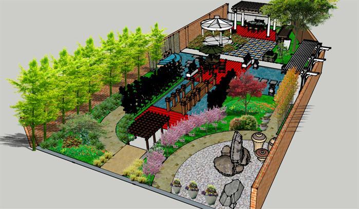 某庭院景观设计cad平面图