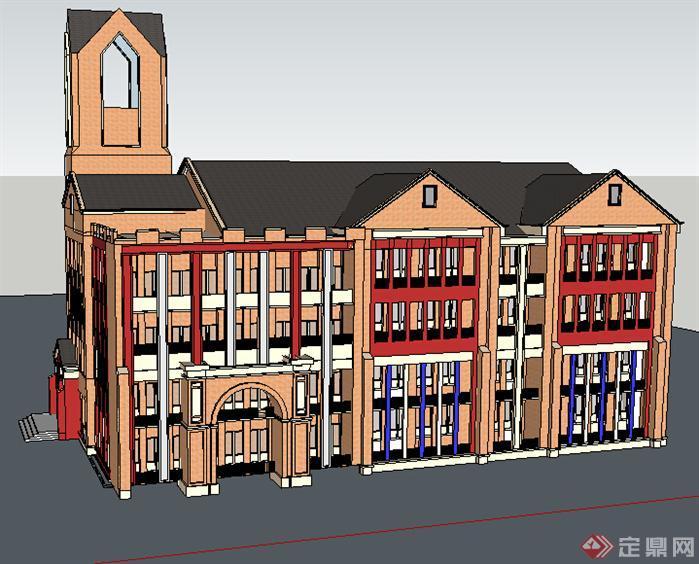 某欧式幼儿园建筑设计方案su模型[原创]