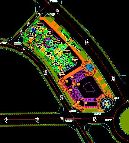 某居住 商业小区景观设计总平面图图片