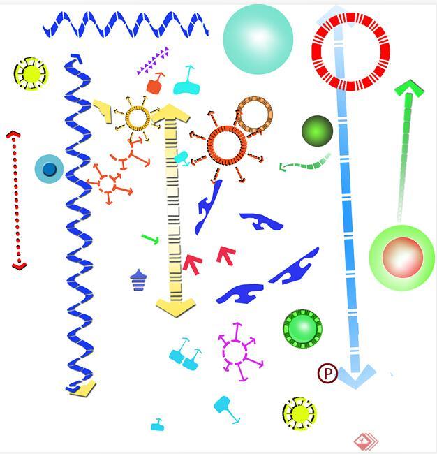 设计素材之ps贴图素材(含分析图符号,各式图例,人物