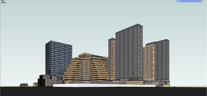 贵州某生态科技园建筑设计su模型(附ppt报建方案