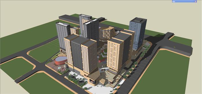 贵州某生态科技园建筑设计su模型(附ppt报建方案文本)