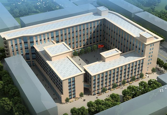某现代风格办公建筑设计效果图.资料包含三套该建筑的jpg