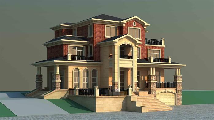 某欧式风格别墅住宅建筑施工图[原创]图片