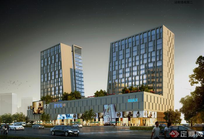 某现代酒店,办公商业综合体建筑设计方案(jpg格式)