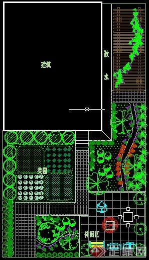 某现代风格私家花园景观设计方案图[原创]