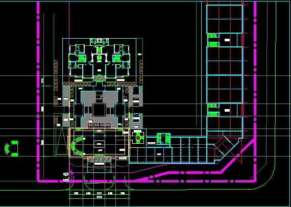 中式会所建筑设计方案su模型(附cad平面