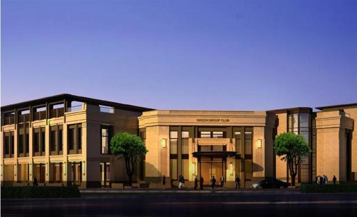 某新古典商务会所建筑设计方案su模型(2)
