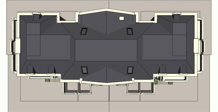 成都某欧式艺展中心建筑设计方案su模型[原创]
