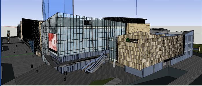 某现代商业建筑设计方案su模型4 5