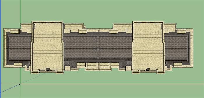 某新古典高层公寓建筑设计方案su模型1 2