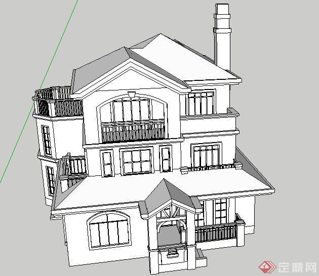 某别墅建筑设计SU模型8