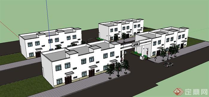 某现代民居住宅建筑设计方案su模型