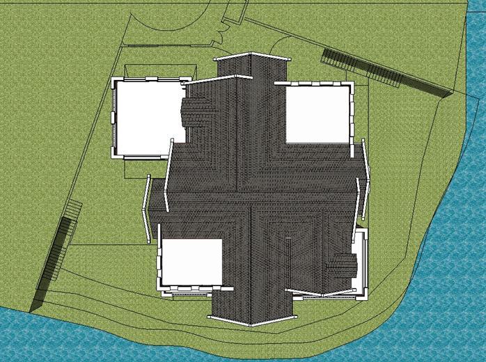 某英伦风格独栋山地别墅建筑设计方案su模型(附cad一,二层平面图)(5)