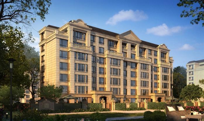 某法式6層公寓洋房建筑設計方案su模型[原創]
