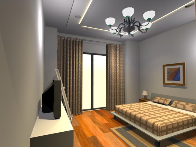 某住宅室內裝飾設計su模型(含3d燈光渲染)[原創]