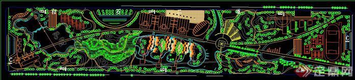 某公园景观设计方案总平面图
