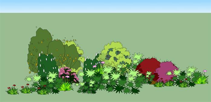 多种景观植物设计su模型