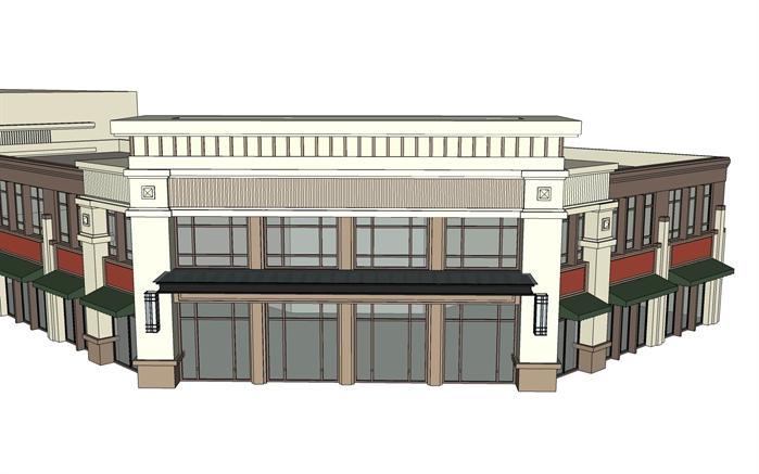 某现代商业建筑设计su模型