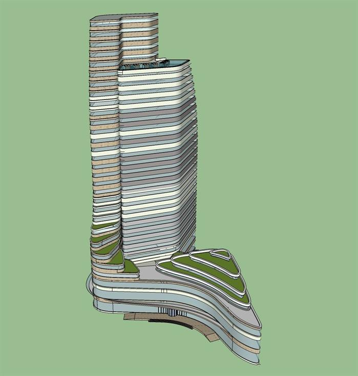 某酒店风水建筑设计SU高层[原创]模型网站设计之图片