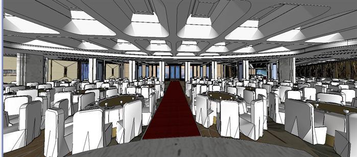 某酒店大型宴会厅装饰设计su模型