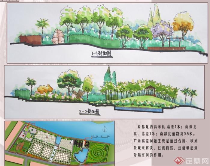 某滨水广场景观设计方案[原创]v广场惠美装饰工程河南图片