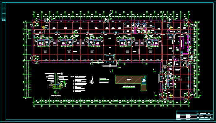 某幼儿园建筑平面图-三层5000平[原创]