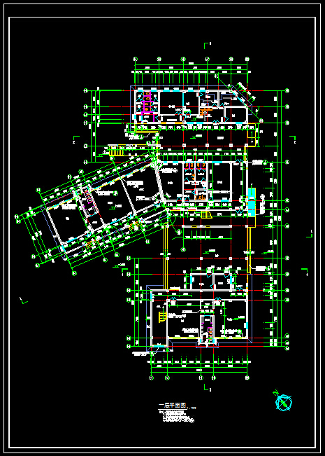 幼儿园建筑设计平面图-3层2000平[原创]