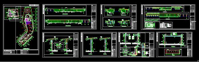 某现代风格旅游区游客服务中心建筑设计cad图纸图片