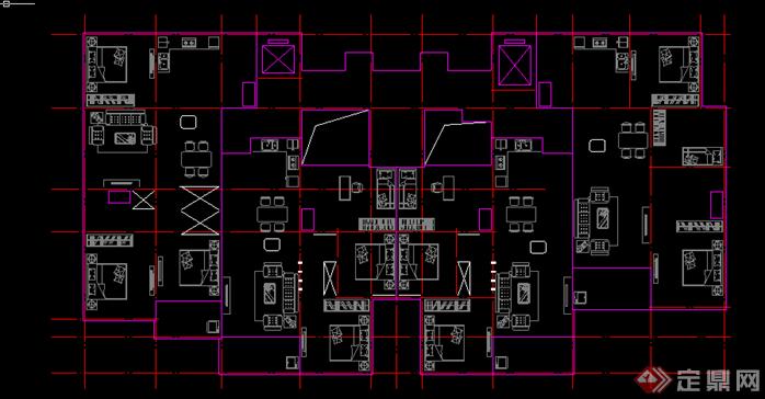 某现代风格高层住宅楼建筑方案设计CAD图纸3