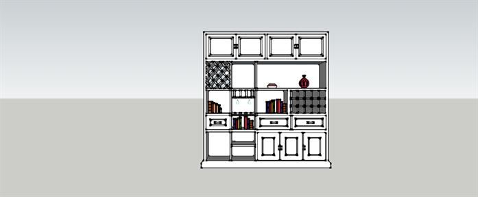 一个欧式酒柜设计的su模型