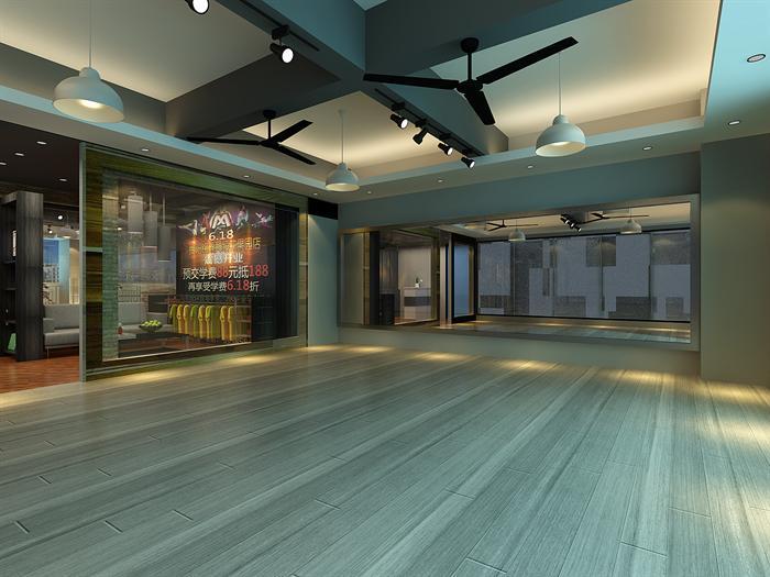 某现代风格文化舞蹈培训室内设计3DMAX模型素材高清图片