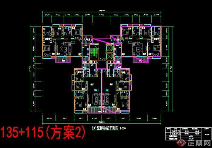 住宅楼中楼设计平面图内容 住宅楼中楼设计平面图版面设计