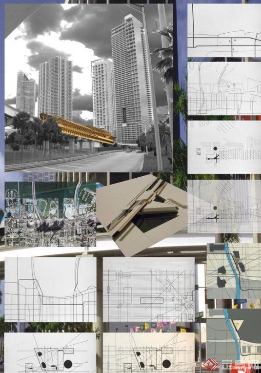 多个建筑排版设计图