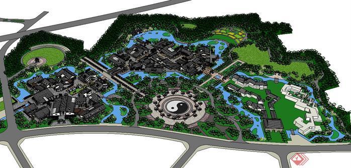 某公园景观设计su模型