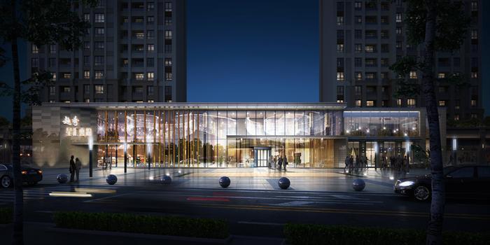 某现代风格商业售楼处建筑设计全套方案(含效果图)
