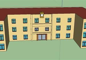 某小学建筑设计SU(草图大师)模型