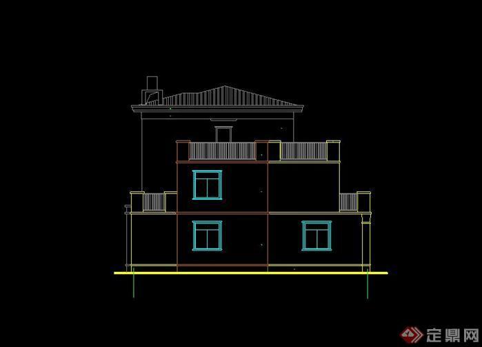 某三层欧式别墅建筑设计方案(含效果图)[原创]