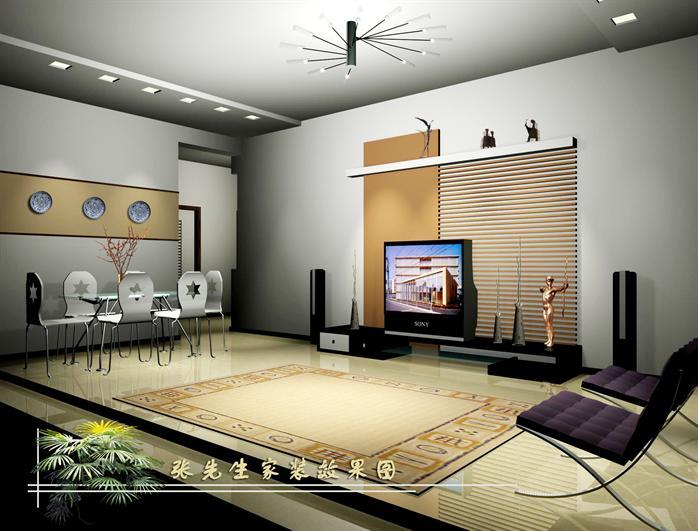 某现代风格室内空间装饰设计3DMAX模型素材 含效果图 3