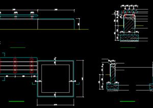 某现代风格园林景观树池扩初图设计CAD图纸5