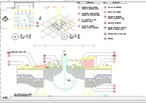 某现代风格园林景观树池扩初图设计CAD图纸6