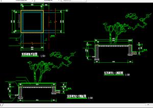 某现代风格园林景观树池扩初图设计CAD图纸7