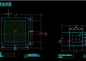 某现代风格园林景观树池扩初图设计CAD图纸11